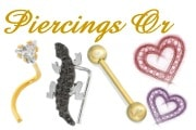 Piercings en or