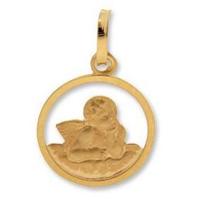 Médaille ange ajouré en or