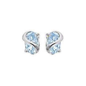Boucles d'oreilles topazes bleue 6x4mm