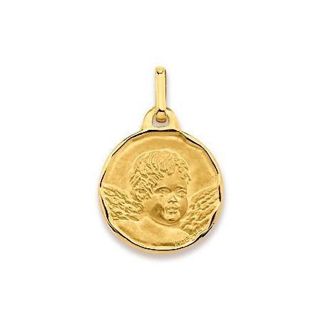 Médaille tête ange en or