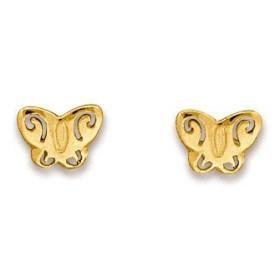 Clous d'oreilles papillons en or