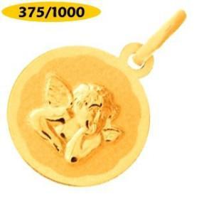 Médaille ange en or 375/1000