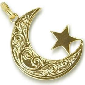 Pendentif Islamique plaqué or.
