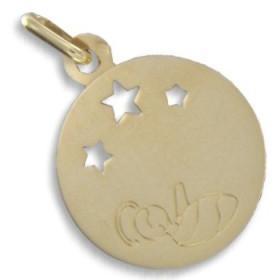 Médaille pour bébé de naissance en or