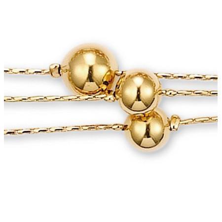 Bracelet boules plaqué or.