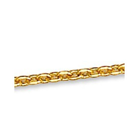 Chaîne forçat limée plaqué or.
