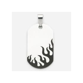 Pendentif flames en acier