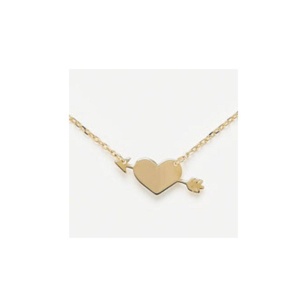 Collier Amour plaqué or.