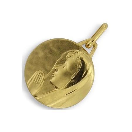 Médaille vierge plaqué or.