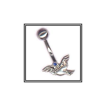 Piercing de nombril colombe