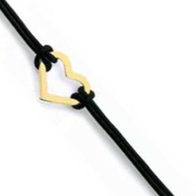 Bracelet coeur plaqué or.