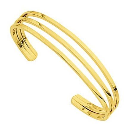 Bracelet rigide plaqué or.