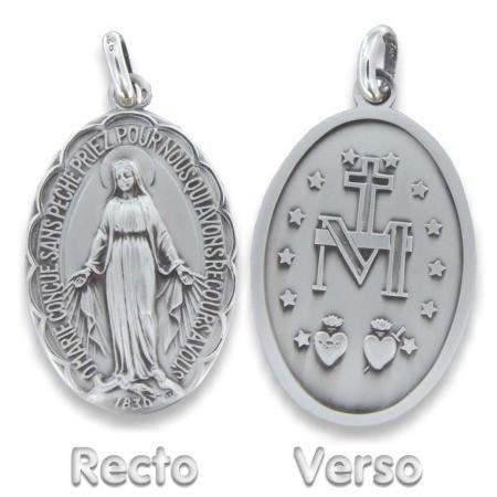 Médaille vierge miraculeuse en argent.