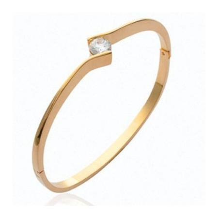 Bracelet solitaire oxyde de zirconium.