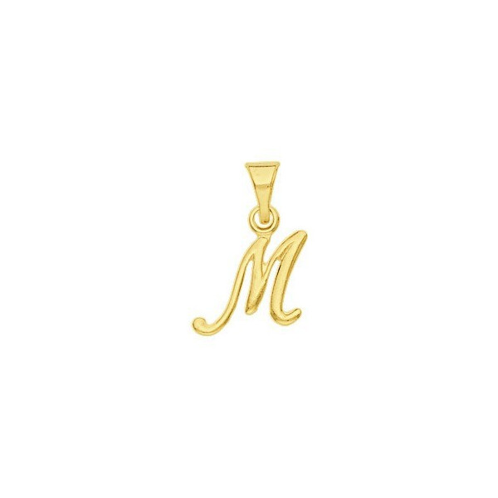Pendentif lettre M plaqué or.