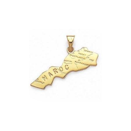 Pendentif Maroc plaqué or