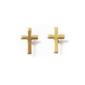 Clous doreilles plaqué or en formes de croix