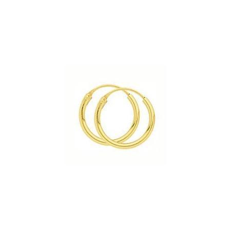 Créoles plaqué or de 10 mm de diamètre