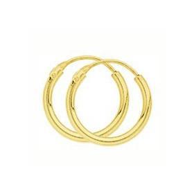 Créoles plaqué or de 12 mm de diamètre