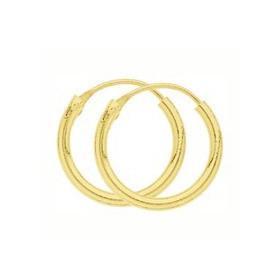Créoles plaqué or de 14 mm de diamètre