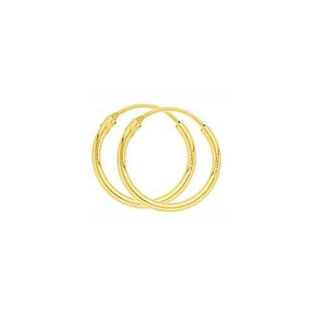 Créoles plaqué or de 16 mm de diamètre