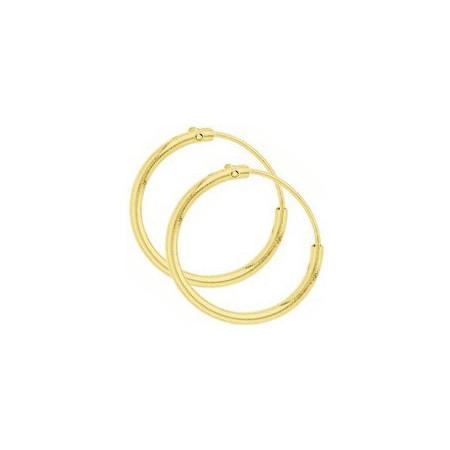 Créoles plaqué or de 18 mm de diamètre
