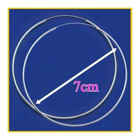 Maxi Créoles en argent 7 cm