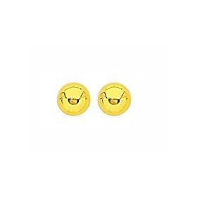 Clous doreilles plaqué or avec boules de 4 mm