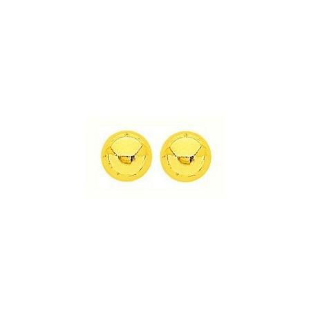 Clous doreilles plaqué or avec boules de 8 mm