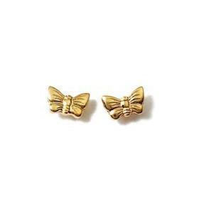 Clous doreilles plaqué or en forme de papillons