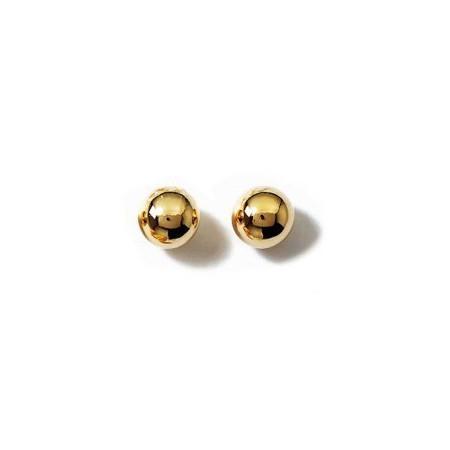 Clous doreilles plaqué or avec boules de 2 mm