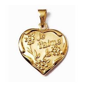Pendentif je t'aime plaqué or.