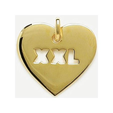Coeur plaqué or XXL.