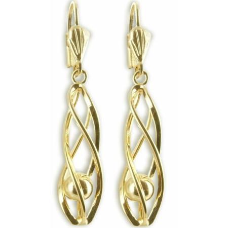 boucles d'oreilles pendantes plaquees or