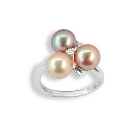 Bague or, perles et diamant