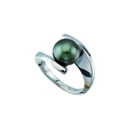 Bague or solitaire perle de Tahiti