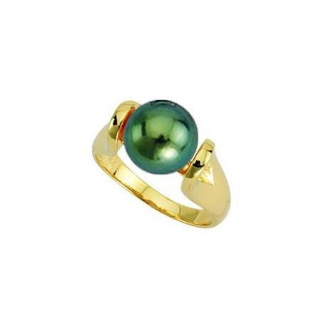 Bague or et perle de Tahiti