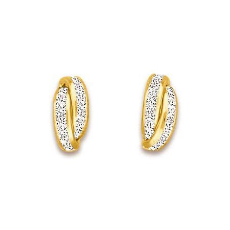 Boucles d'oreilles en or et zirconias