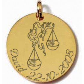 Zodiaque gravé avec prénom et date