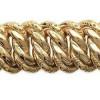 Bracelet mailles américaines plaqué or.