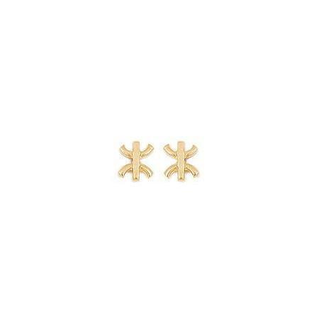 Clous doreilles croix kabyle plaqué or