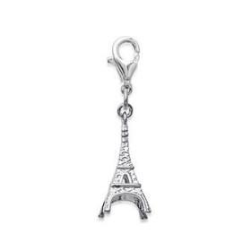 Pendentif ou bijou de portable tour Eiffel en argent.