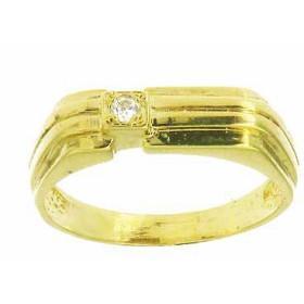 Chevalière adama Or 375 avec diamant