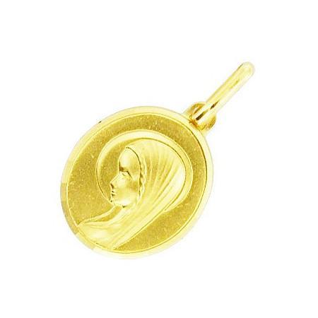 Médaille vièrge plaqué or.