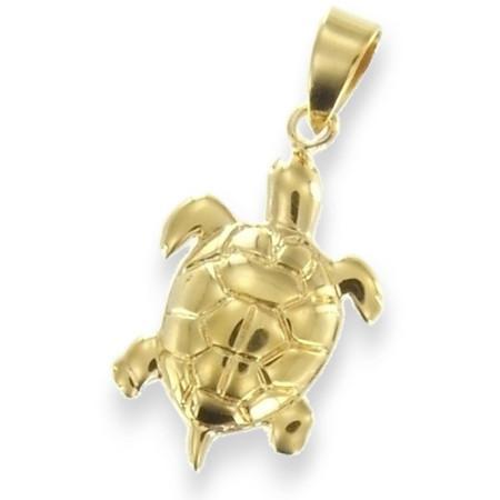 Pendentif tortue de mer plaqué or