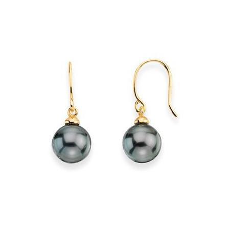 Boucles d'oreilles or et perles de Tahiti
