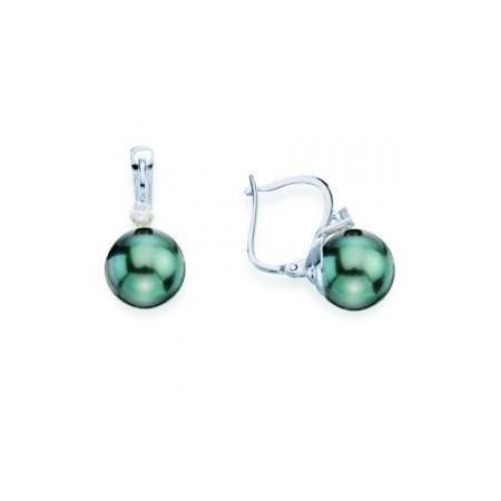 Boucles or, diamants et perles