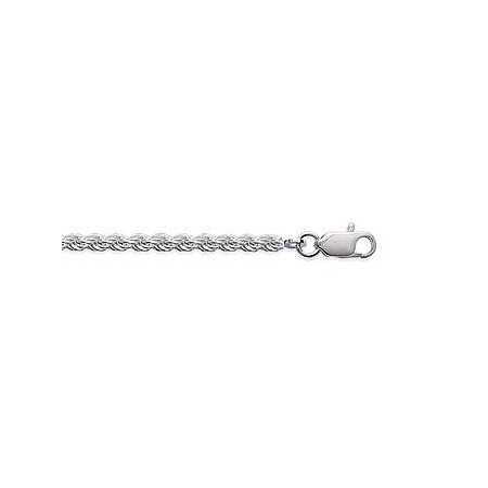 Chaîne en argent maille corde ronde 3 mm