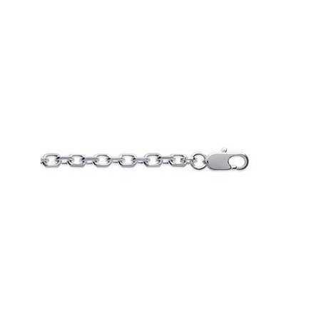 Chaîne en argent maille forçat diamantée 3,20 mm