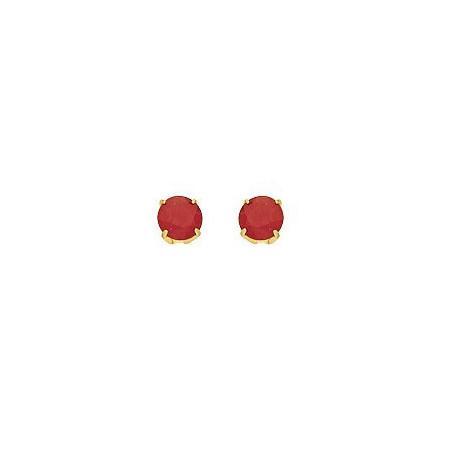 Clous d'oreilles rubis